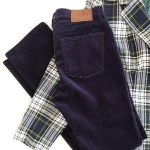 LRL Classic Straight Corduroy Pants Midnight Blue